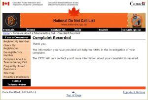 complaint made